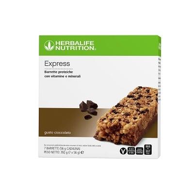 Barrette proteiche Express Cioccolato 7 barrette